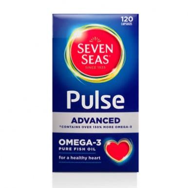 Seven seas pulse advanced omega 3 pure fish oil capsules for Omega fish oil advanced support