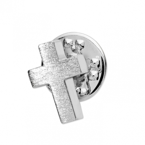 Tipperary Crystal Silver Cross Lapel Pin