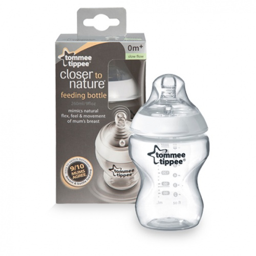 Tommee Tippee Closer To Nature Single Bottle 260ml 0+ Months