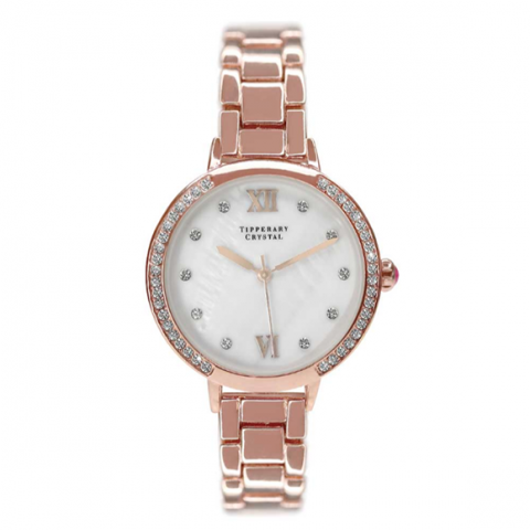 Tipperary Crystal Hollywood Rose Gold Watch