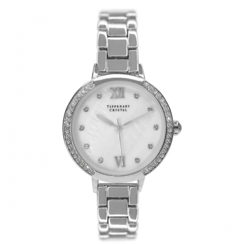 Tipperary Crystal Hollywood Silver Watch