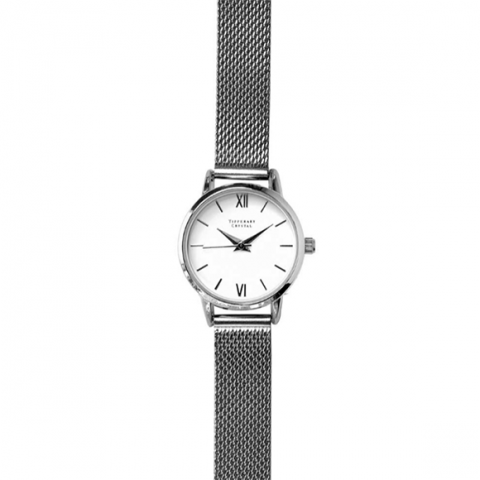 Tipperary Crystal Pacific Coast Silver Watch