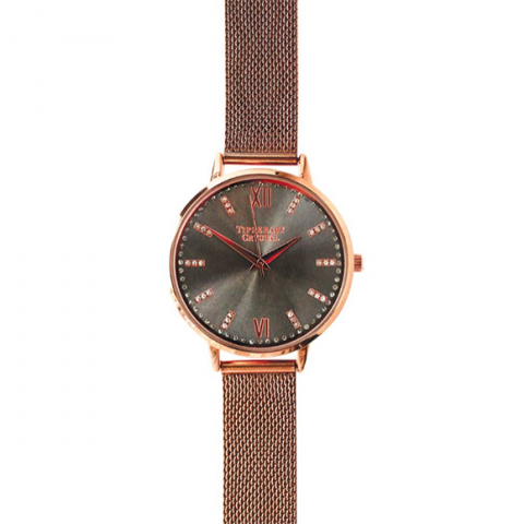 Tipperary Crystal Beverly Hills Rose Gold Watch