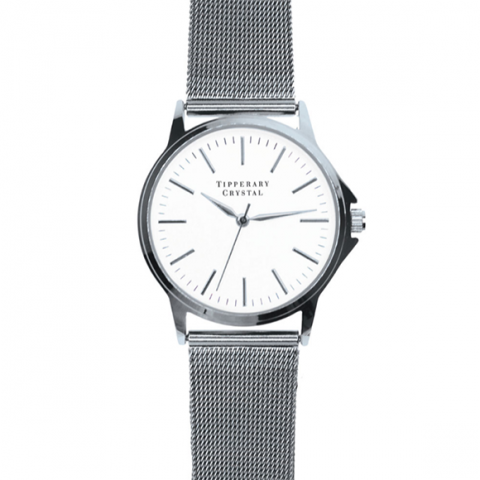 Tipperary Crystal Stage Silver Watch
