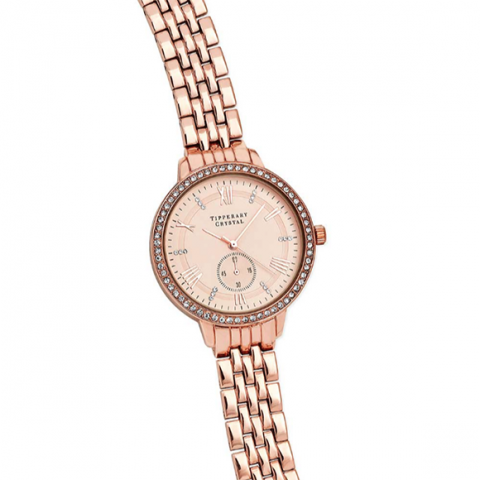 Tipperary Crystal Artemis Rose Gold Watch