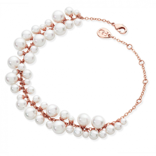 Tipperary Crystal Rose Gold Pearl Grape Bracelet