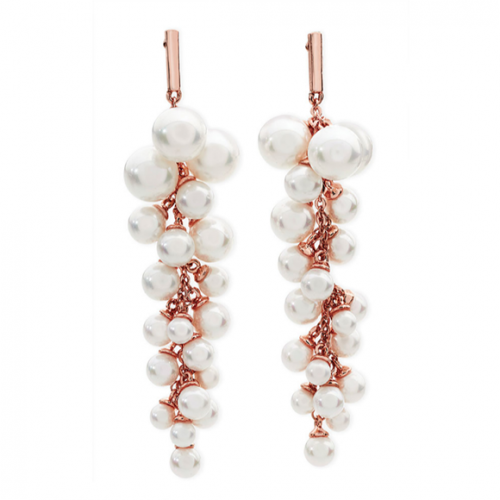 Tipperary Crystal Rose Gold Pearl grape Earrings