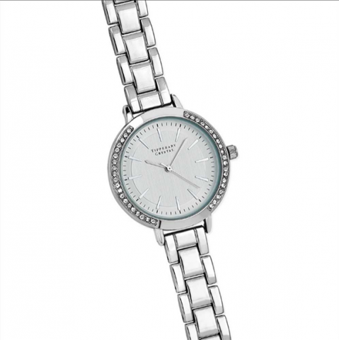 Tipperary Crystal Iris Silver Watch