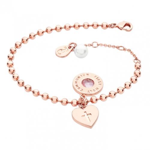 Tipperary Crystal Three Charm Ball Chain Bracelet