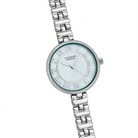 Tipperary Crystal Zeus Silver Watch