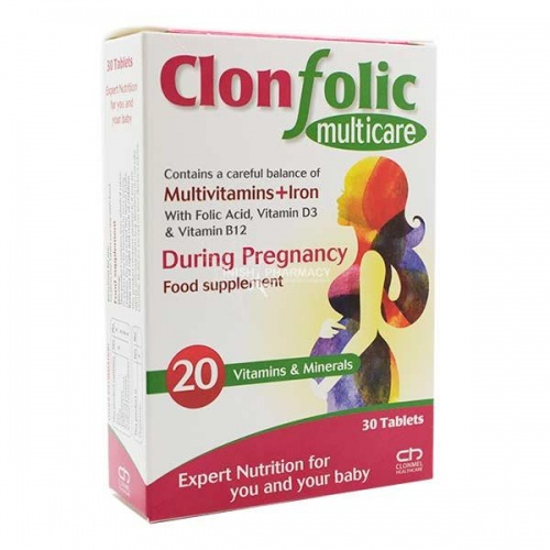Clonfolic Multicare 30 Tablets