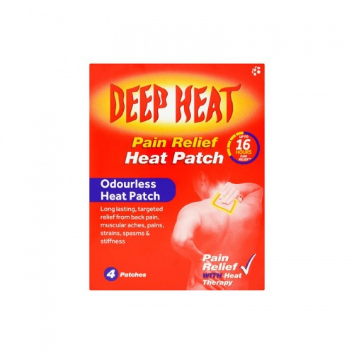 Deep Heat Patches - 4 Pack