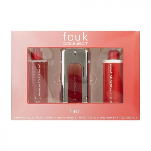 FCUK Connect 3 Piece 100ml Gift Set For Her