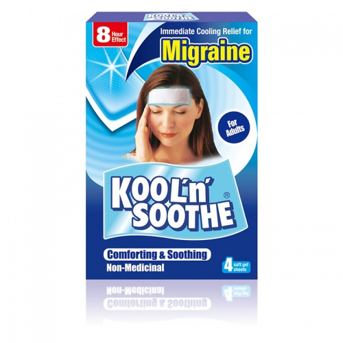 Kool n Soothe Migraine Soft Gel Sheets - 4  Pack