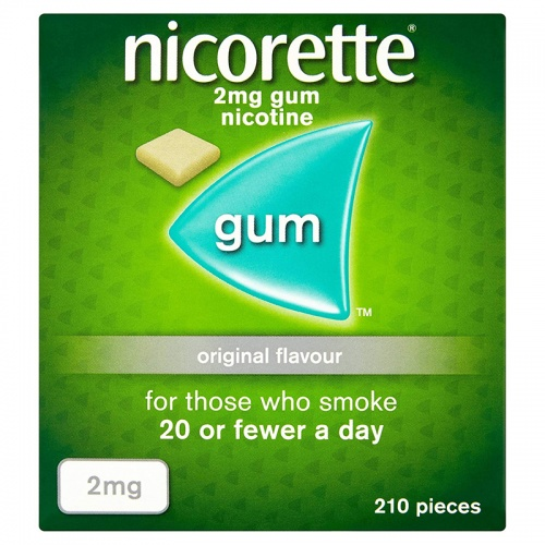 Nicorette 2mg Sugar Free Original Gum - 210 Pieces