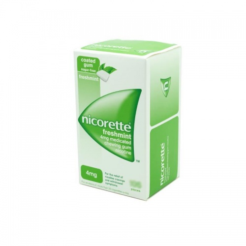 Nicorette Freshmint 4mg Sugar Free Coated Gum 105 Pieces