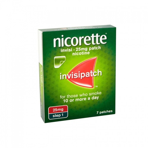 Nicorette Invisi Extra Strength 25mg Step 1 Patches - 7 Pack