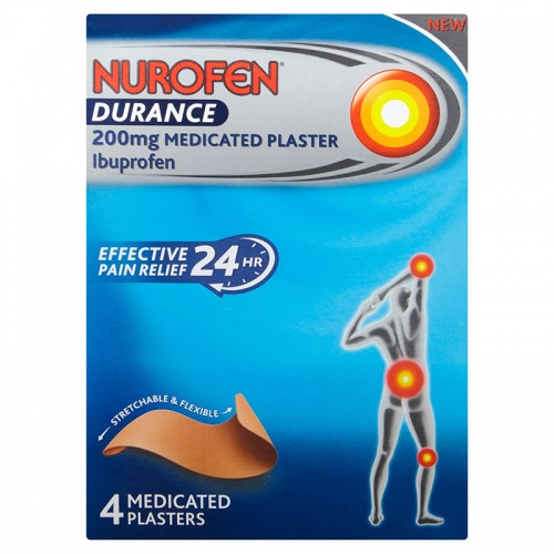 Nurofen Durance 200mg Medicated Plaster 4 Pack