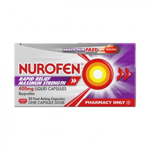 Nurofen Rapid Relief Maximum Strength 400mg 20s