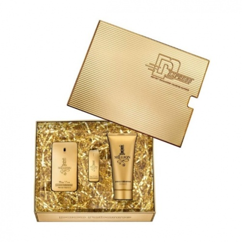 Paco Rabanne 1 Million 50ml 3 Piece Gift Set For Him