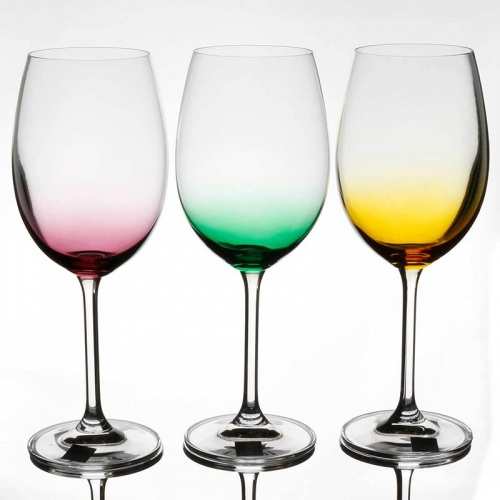 Tipperary Crystal Rainbow Party Pack Wine Set Of 6 Glasses 450ml
