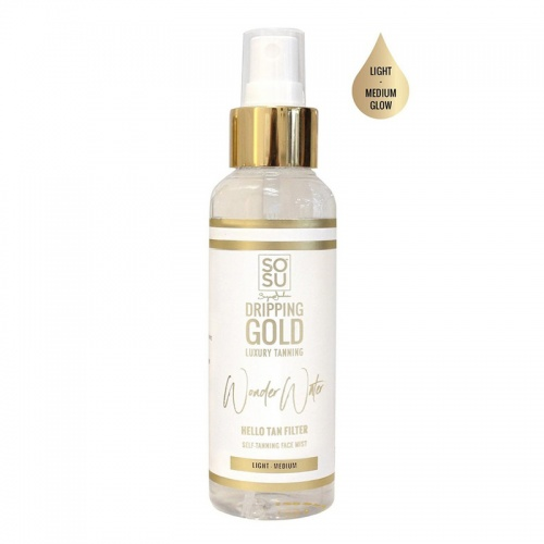 SOSU Dripping Gold Wonder Water Self Tanning Face Mist Light - Medium