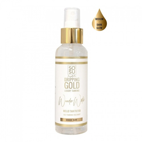 SOSU Dripping Gold Wonder Water Self Tanning Face Mist Medium - Dark
