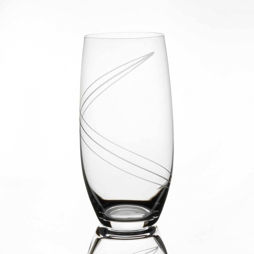Tipperary Crystal Spiral Cut Set of 6 Hiball Glasses 470ml
