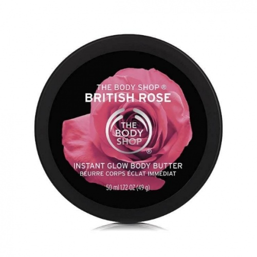 The Body Shop British Rose Instant Glow Mini Body Butter 50ml
