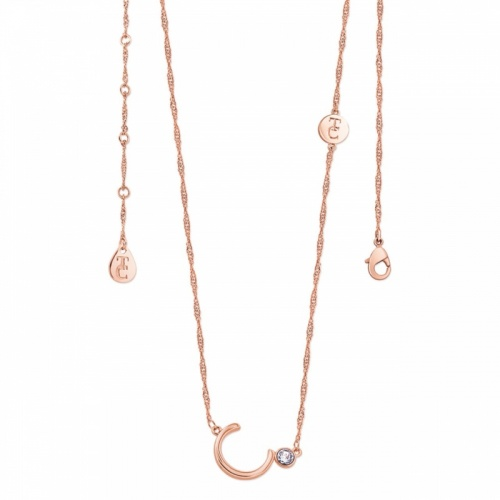 Tipperary Crystal Letter 'C' Pendant Rose Gold