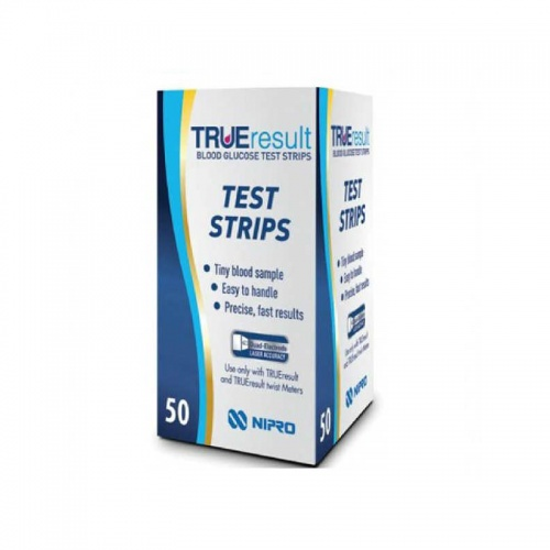 True Result Blood Glucose Test Strips 50