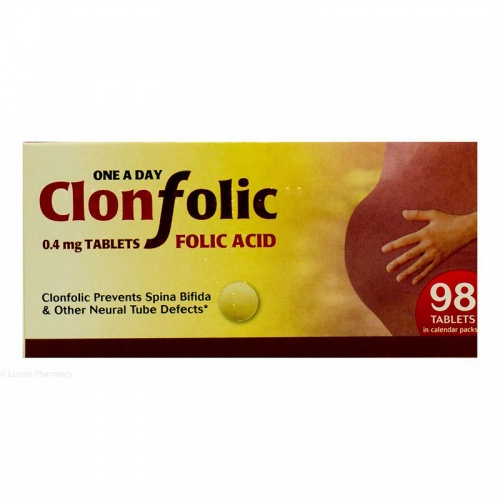 Clonfolic 0.4mg Tablets