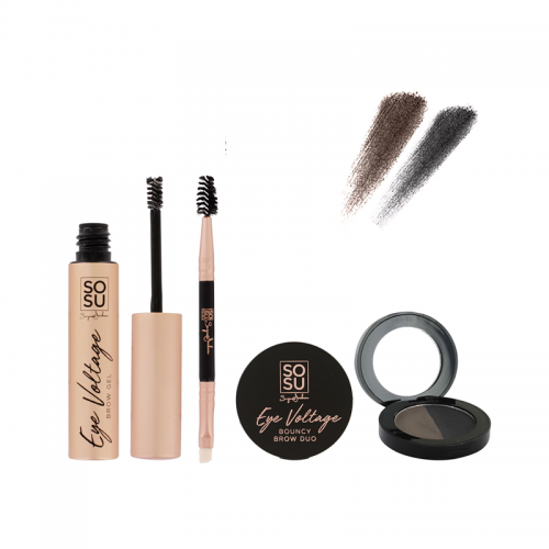SOSU Eye Voltage Ultimate Brow Kit - (Medium - Dark)