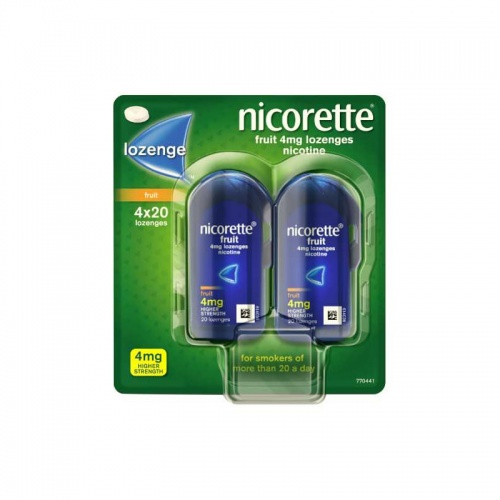 Nicorette Fruit Lozenges 4mg - 4 pack
