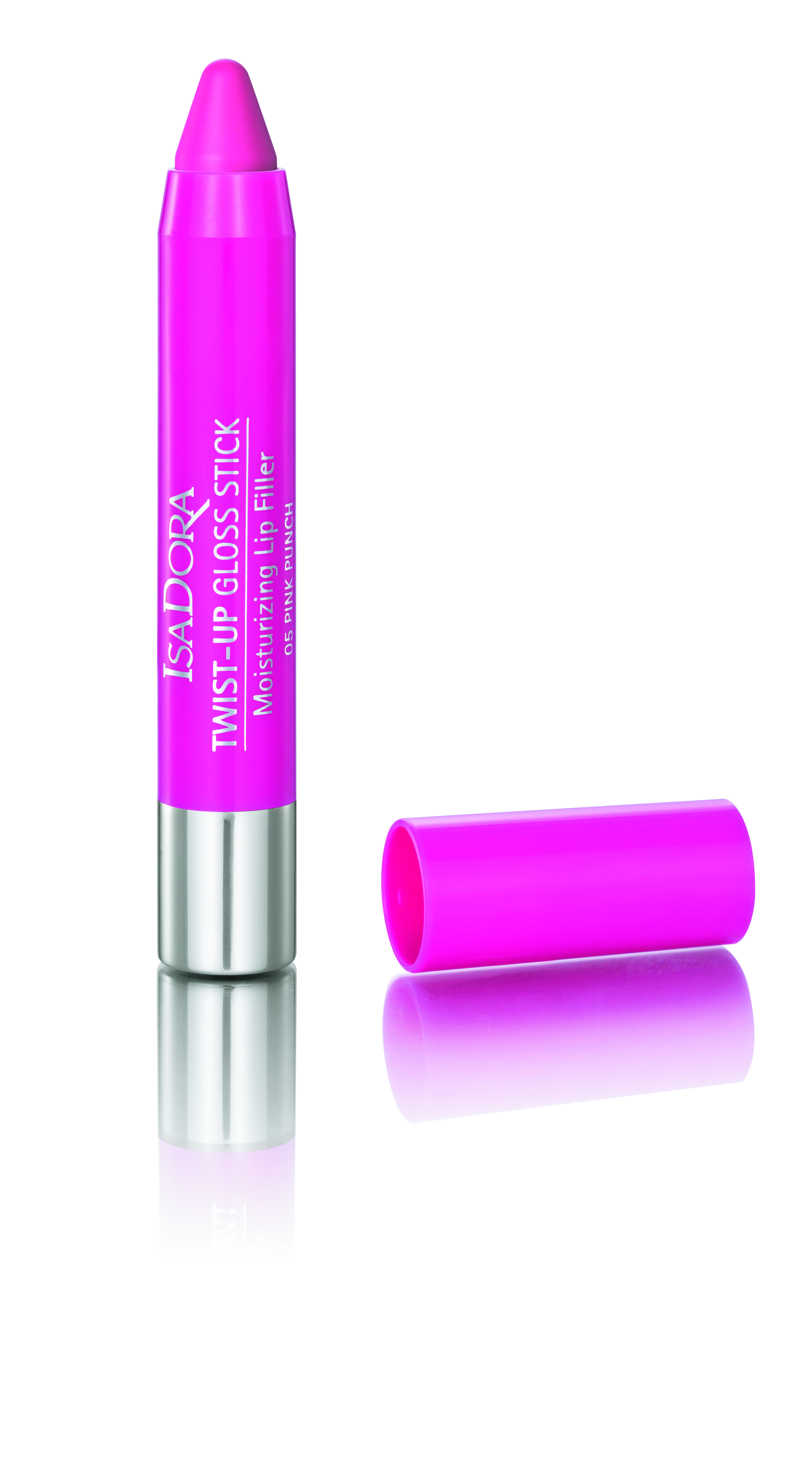 isadora twist up gloss stick clear nude