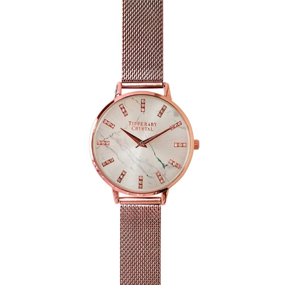 Tipperary Crystal Malibu Rose Gold Watch