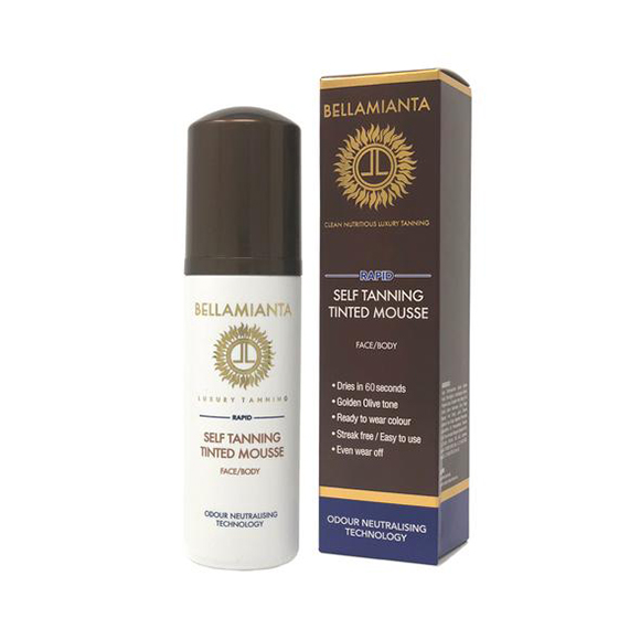 Bellamianta Rapid Self-Tanning Tinted Mousse 150ml