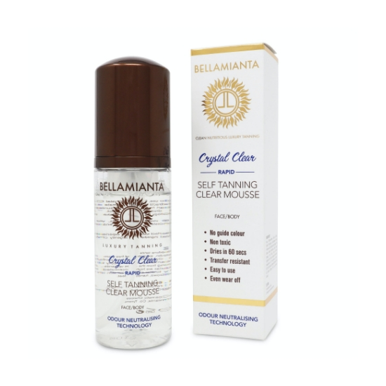 Bellamianta Crystal Clear Rapid Self-Tanning Clear Mousse 150ml