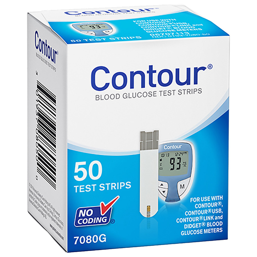 Contour Blood Glucose Test Strips 50 Strips