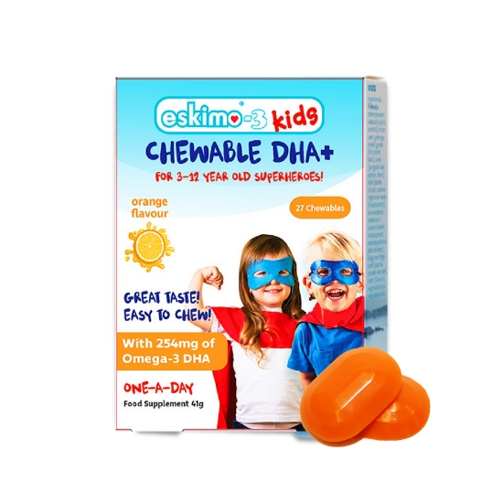 Eskimo 3 Kids Chewable DHA+ Tablets 27s