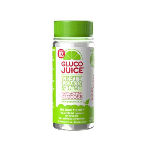 GlucoJuice Zesty Lemon and Lime Fast Acting Glucose 60ml