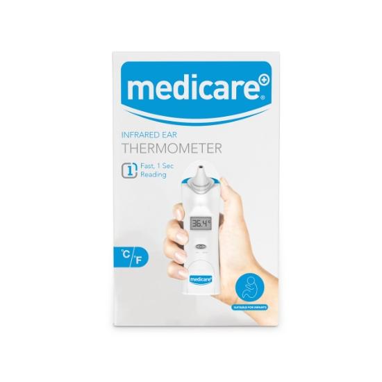 Medicare Infrared Ear Thermometer with Probe Covers