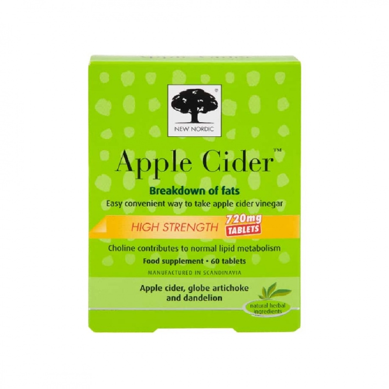 New Nordic Apple Cider High Strength 720mg Tablets 60pk