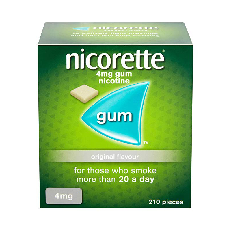 Nicorette 4mg Sugar Free Original Gum - 210 Pieces