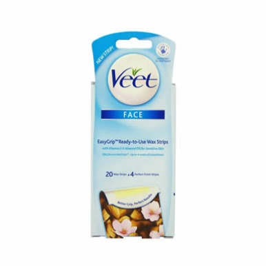 Veet Face EasyGrip Ready-to-Use Wax Strips