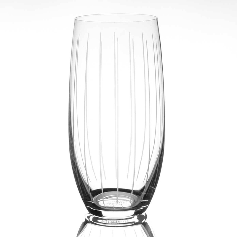 Tipperary Crystal Vertical Cut Set of 6 Hiball Glasses 470ml