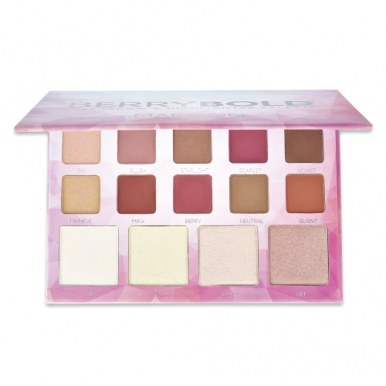 Madison Make-Up Berry Bold Eyeshadow & Highlighter Palette