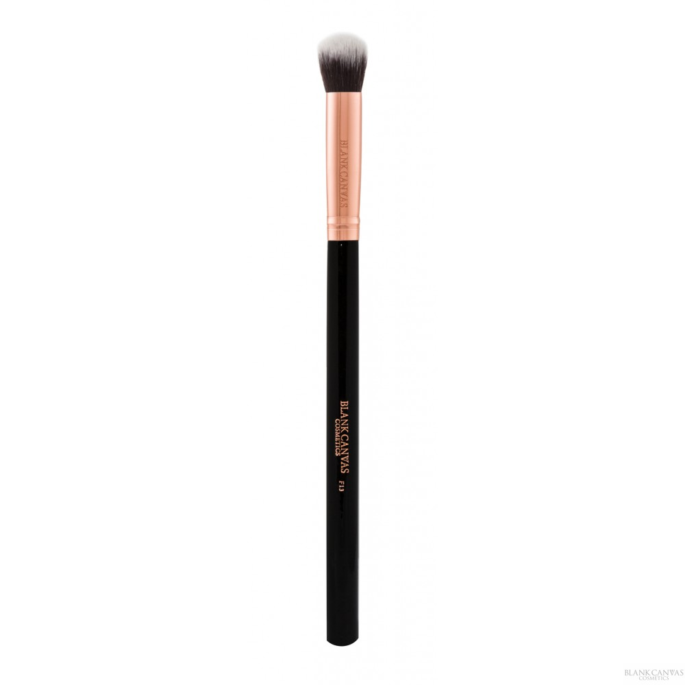 Blank Canvas F13 Small Face/Eye Blending Brush in Rose Gold / Black