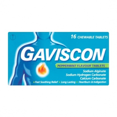 Gaviscon Peppermint Chewable Handy Pack Tablets 16s