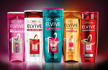 L'oreal haircare shampoo and conditioner range.